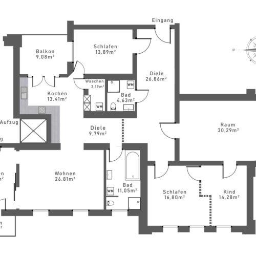 Real Estate Film über eine 5,5 Zimmer-Wohnung im ehem. Max-Egon-Krankenhaus